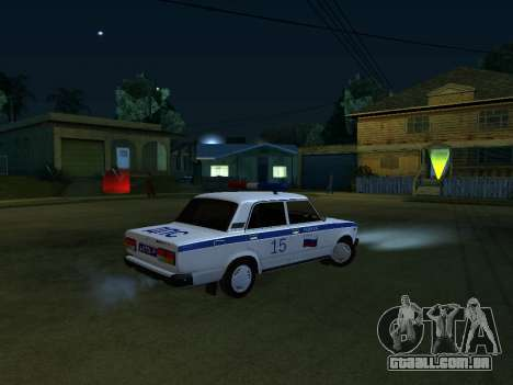 VAZ 2107 DPS para GTA San Andreas vista interior