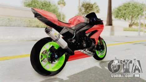 Kawasaki Ninja ZX-6R Boy from Anak Jalanan para GTA San Andreas vista direita
