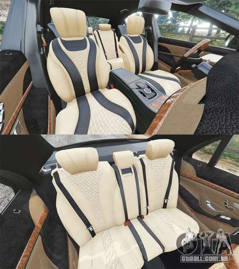 GTA 5 Mercedes-Benz S500 (W222) [michelin] v2.1 volante