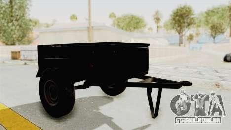 GAZ-704 Trailer para GTA San Andreas traseira esquerda vista