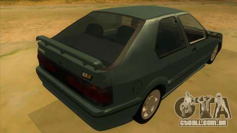 Renault 19 Coupe para GTA San Andreas vista direita
