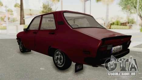 Dacia 1310 TX Realistica para GTA San Andreas traseira esquerda vista