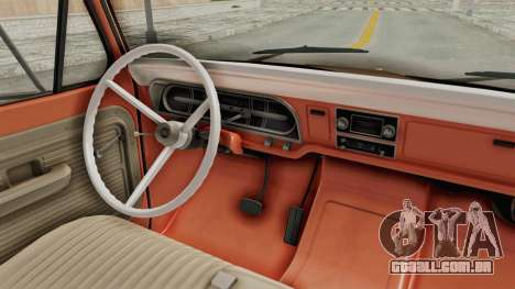 Ford F-350 U-Haul 1971 IVF para GTA San Andreas vista interior