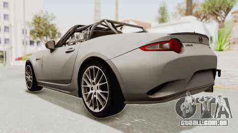 Mazda MX-5 Cup 2015 v2.0 para GTA San Andreas esquerda vista