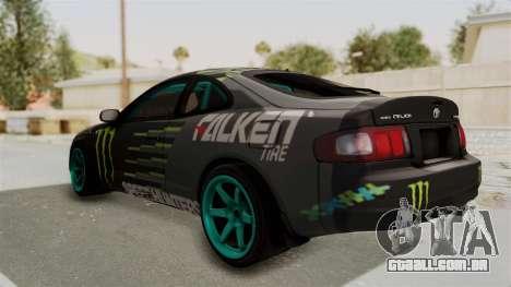 Toyota Celica GT Drift Monster Energy Falken para GTA San Andreas traseira esquerda vista