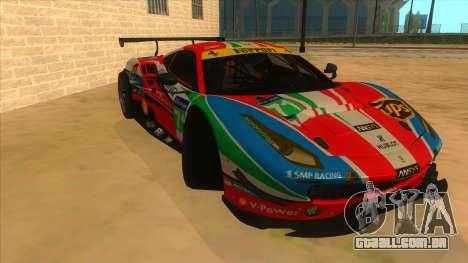 2016 Ferrari 488 GTE para GTA San Andreas vista traseira