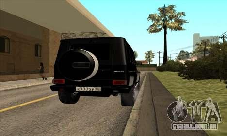 Mercedes G63 Biturbo para GTA San Andreas vista direita