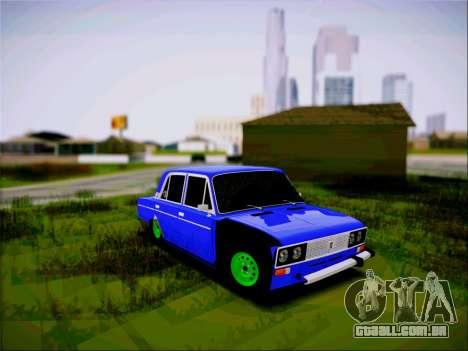VAZ 2106 Vagabundo para GTA San Andreas traseira esquerda vista