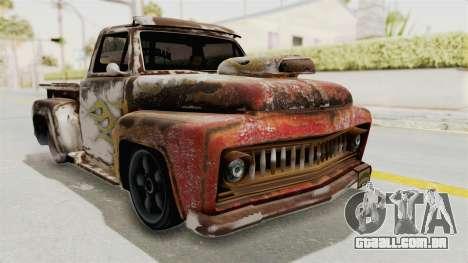 GTA 5 Slamvan Lowrider PJ2 para GTA San Andreas vista traseira