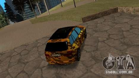 BMW X5M ( Davidich ) para GTA San Andreas vista direita