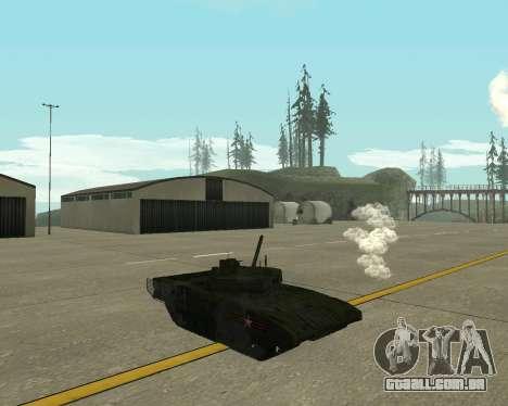 T-14 Armata para GTA San Andreas vista traseira
