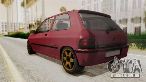 Renault Clio Williams para GTA San Andreas traseira esquerda vista