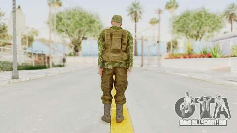 MGSV The Phantom Pain Soviet Union Vest v2 para GTA San Andreas terceira tela