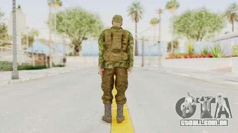 MGSV The Phantom Pain Soviet Union Vest v2 para GTA San Andreas terceira tela
