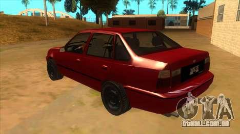 Daewoo Racer GTI para GTA San Andreas traseira esquerda vista