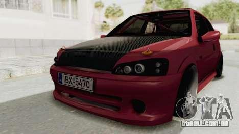 Peugeot 106 V2 RWD Greek Style para GTA San Andreas vista direita