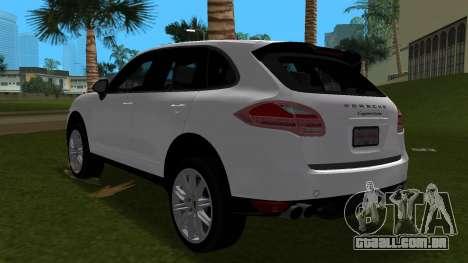 Porsche Cayenne 2012 para GTA Vice City vista traseira