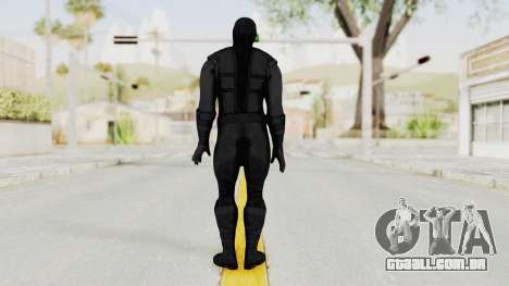 Mortal Kombat X Klassic Noob Saibot para GTA San Andreas terceira tela