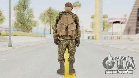 COD Black Ops Russian Spetznaz v7 para GTA San Andreas terceira tela