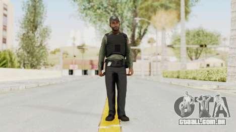 GTA 5 Security Man para GTA San Andreas segunda tela