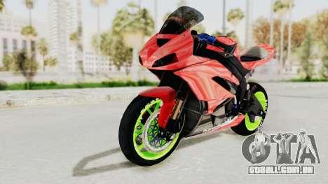 Kawasaki Ninja ZX-6R Boy from Anak Jalanan para GTA San Andreas traseira esquerda vista