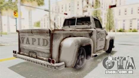GTA 5 Slamvan Lowrider PJ2 para GTA San Andreas vista direita