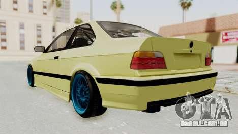 BMW M3 E36 Drift para GTA San Andreas traseira esquerda vista