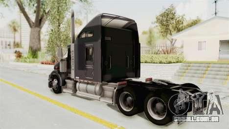 Kenworth T800 Centenario para GTA San Andreas esquerda vista