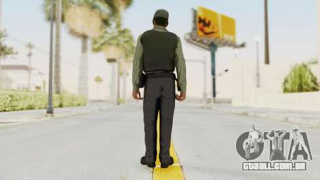 GTA 5 Security Man para GTA San Andreas terceira tela