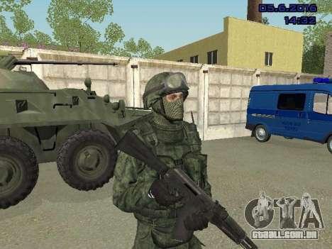 Modern Russian Soldiers pack para GTA San Andreas quinto tela