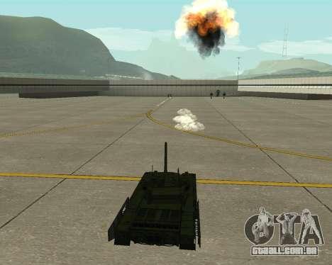 T-14 Armata para GTA San Andreas vista superior