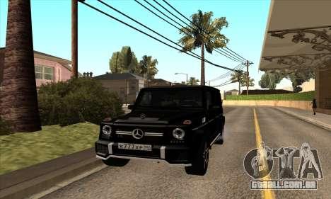 Mercedes G63 Biturbo para GTA San Andreas esquerda vista