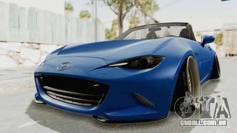 Mazda MX-5 Slammed para GTA San Andreas vista direita