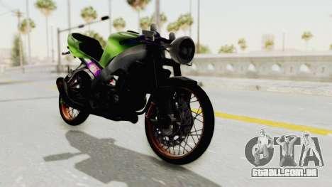 Kawasaki Ninja ZX-9R Drag para GTA San Andreas traseira esquerda vista