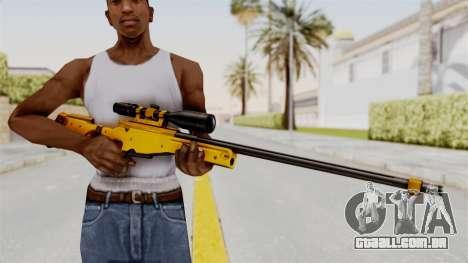 L96A1 Gold para GTA San Andreas terceira tela