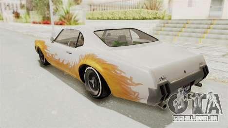 GTA 5 Declasse Sabre GT2 para GTA San Andreas vista superior