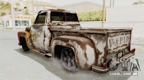GTA 5 Slamvan Lowrider para GTA San Andreas vista interior