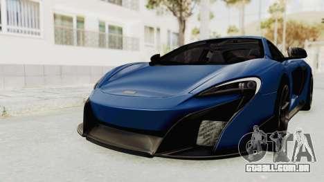 McLaren 675LT Coupe v1.0 para GTA San Andreas vista direita