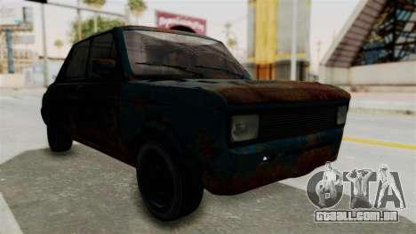 Zastava 1100 Rusty para GTA San Andreas vista direita