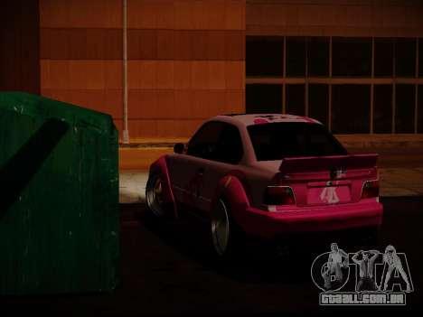 BMW M3 E36 Pinkie Pie para GTA San Andreas vista traseira