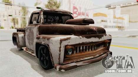 GTA 5 Slamvan Lowrider para vista lateral GTA San Andreas