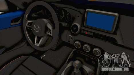 Mazda MX-5 Slammed para GTA San Andreas vista interior