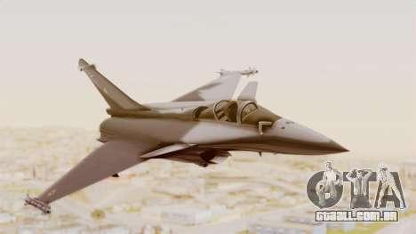 Dassault Rafale Indian Air Force para GTA San Andreas traseira esquerda vista