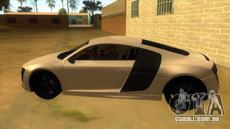 Audi R8 5.2 V10 Plus para GTA San Andreas esquerda vista