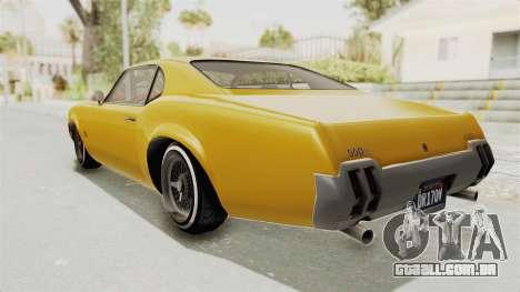 GTA 5 Declasse Sabre GT2 A IVF para GTA San Andreas esquerda vista