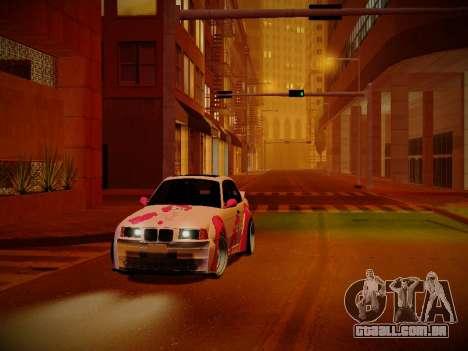 BMW M3 E36 Pinkie Pie para GTA San Andreas vista interior