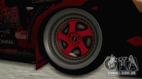 Mitsubishi Lancer Evolution X Ken Kaneki Itasha para GTA San Andreas vista traseira