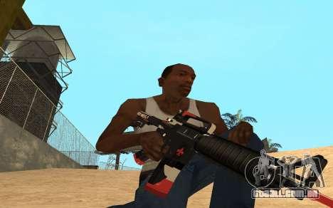 M4 Cyrex para GTA San Andreas terceira tela