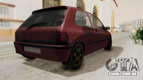 Renault Clio Williams para GTA San Andreas esquerda vista