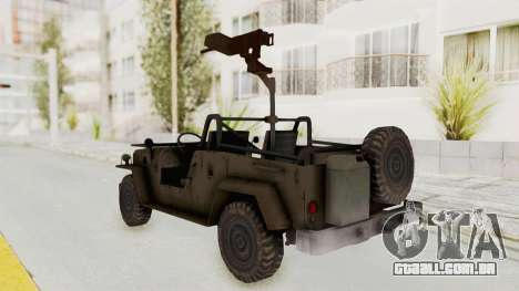 MGSV Jeep para GTA San Andreas esquerda vista